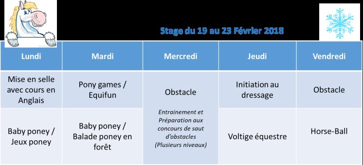 Stage février 2018
